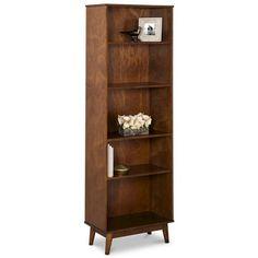 Mid Century Modern 5-Shelf Bookcase