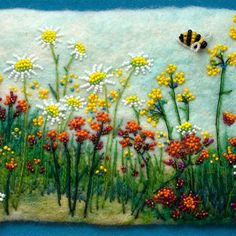 Beadwork by Jo Wood Felt Pictures, Beads Pictures, Jo Wood, Seed Bead Art, Felted Soap, Felt Embroidery, Beaded Crafts, Landscape Quilts, Craft Night
