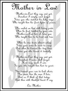 wedding day mother in law poem diy printable by weddingsbyjamie