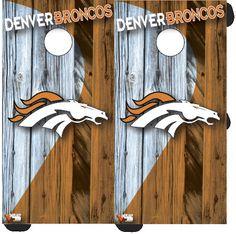 Denver Broncos Cornhole Wraps by Wrapitandslapit on Etsy