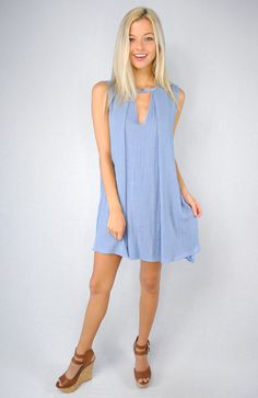 Boho Gazelle Trapeze Dress Blue | South