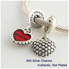 Fits Pandora Bracelets Mother and daughter Beads Guaranteed 100% 925 sterling Silver fashion Charms Free Shipping L087