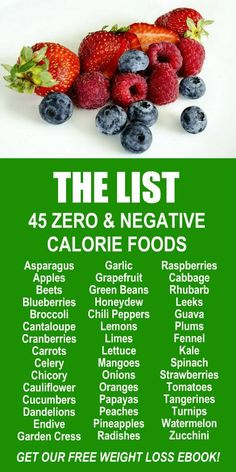 45 Zero & Negative Calorie Foods. Learn about the weight loss and fat burning benefits of Zija's potent Moringa based product line. Try our 90 day transformation. Get our FREE eBook with suggested fitness plan, food diary, and exercise tracker. Look and f