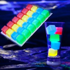 Glow Ice Cubes   Glowing Ice   Party Ice   Glowsource.com