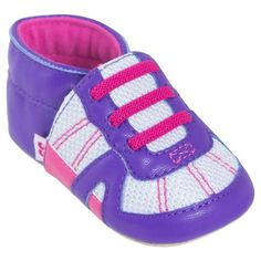 Baby Boys' Solid/Sport Stripe Moccasin Slippers Purple/Pink - Stride Rite, Infant Girl's