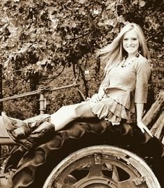 Photo with tractor on the farm