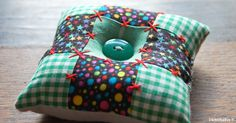 Easy Peasy Four-Square Pincushion for Beginning Quilters