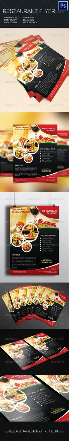 Retaurant Food Flyer Template PSD | Buy and Download: http://graphicriver.net/item/retaurant-food-flyer/8776798?WT.ac=category_thumb&WT.z_author=GreenPixi&ref=ksioks
