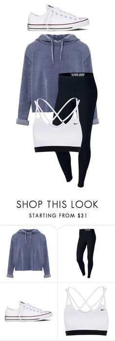 """School Outfit"" by chloefaust on Polyvore featuring Miss Selfridge, NIKE and Converse"