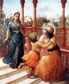 Krishna in Dwaraka Krishna Lila, Cute Krishna, Radha Krishna Love, Shree Krishna, Lord Krishna Images, Radha Krishna Pictures, Krishna Avatar, Lord Rama Images, Lord Krishna Hd Wallpaper