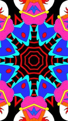 mironart Fractal Design, Illusion Art, Weird Art, Neon Lighting, Optical Illusions, Trippy, Fractals, Color Change, Gif Files