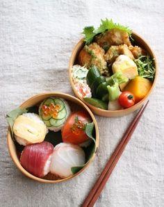 Temarizushi (Sushi Balls) Bento 手毬寿司弁当