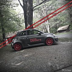 new 500 with red wheels   EVO Corse Racing Wheels