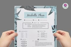 Chic Floral Resume Template By Templates On Creative Market Cv Design