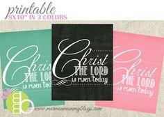 Free LDS printables  Christ the Lord is Risen Today Printable