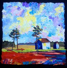 She has such a loose style of painting. I love her work. the accidental artist: Winter in Accomack - and Arizona Byways Calling