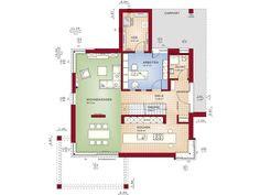 Bien-Zenker Einfamilienhaus Concept-M Köln Design Grundriss EG