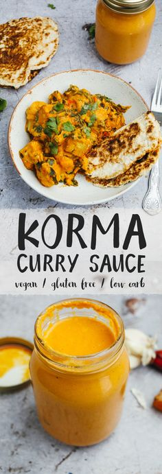 Korma Curry Sauce (Vegan + Low Carb) is part of Korma Curry Sauce Vegan Low Carb Wallflower Kitchen - This creamy, flavoursome curry sauce is so easy to make and is vegan, glutenfree and low carb! Vegan Keto Recipes, Vegan Sauces, Vegetarian Keto, Vegan Foods, Vegan Dishes, Paleo, Cooking Recipes, Indian Curry Vegetarian, Vegetarian Sauces