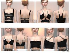 Sims 4 CC's - The Best: Cropped Tops by EsyraM