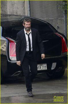 Hugh Jackman Sports Scruffy Beard for First 'Wolverine 3' Set Photos