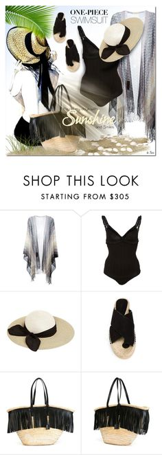 """""""MISSONI, Black One Piece Swimsuit"""" by deneve ❤ liked on Polyvore featuring Missoni, Eugenia Kim, Vince, Yves Saint Laurent and onepieceswimsuit"""