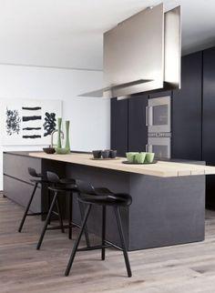 Keukens on pinterest minimalist kitchen met and los angeles - Keuken bar boven ...