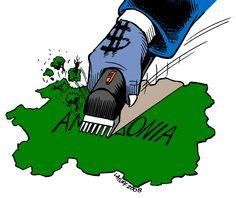 Amazon deforestation by Latuff2.deviantart.com on @deviantART