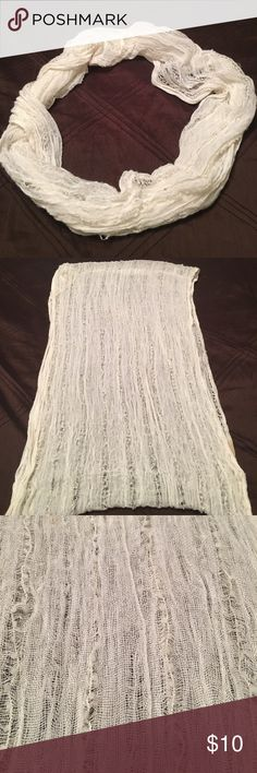 BP Nordstroms off white Infiniti scarf Beautiful off white BP Nordstroms Infiniti scarf. Lightweight and will go with everything! Great deal! bp Accessories Scarves & Wraps