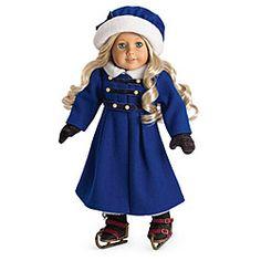 American Girl® Dolls: Caroline's Winter Coat & Ice Skating Set    I wish they had a DIY on this :)