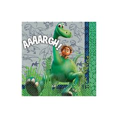 Amscan Disney The Good Dinosaur Birthday Party Beverage Napkins Tableware 16 Pack 5 x 5 Multicolor *** Details can be found by clicking on the image.