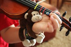 Violin Lessons for Children: Props to aid muscle memory