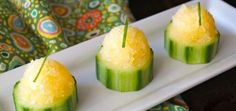 Tasty & Refreshing Orange Granita Cucumber Cups