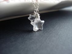 Crystal Stars Necklace, Mother, Mommy And Me, Mother's Day Neckalce, Star Pendant. Delicate Everyday Necklace on Etsy, $28.00