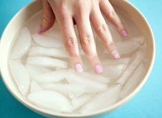 Make nail polish dry faster by soaking nails in ice water.