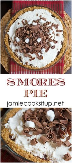 S'mores Pie from Jamie Cooks It Up!