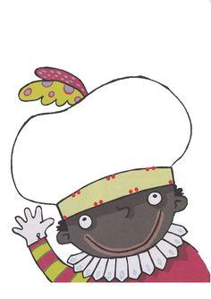 De muts van Zwarte Piet versieren