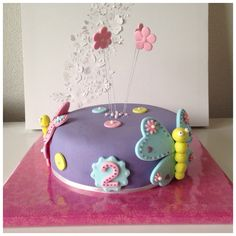 Home made cake for 2 year old! All butterfly's in pastel colors 3 Year Old Birthday Cake, 3rd Birthday Party For Girls, Cute Birthday Cakes, Homemade Birthday Cakes, Homemade Cakes, Birthday Parties, Birthday Ideas, Butterfly Birthday Cakes, Butterfly Cakes