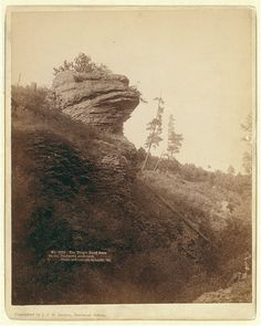 The Frog's Head Rock. On old Deadwood stage road