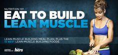 15 best lean-muscle building foods