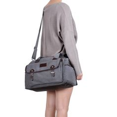 Amazon.com: Sunny Snowy Travel Weekend Bag Canvas Leather overnight Totes Sports Gym Shoulder Duffel(8003-gray): Shoes