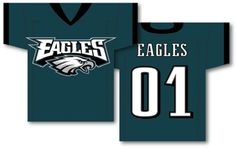 "NFL Philadelphia Eagles Jersey Banner 34"""" x 30"""" - 2-Sided"