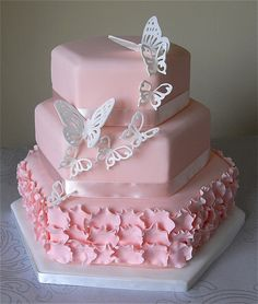 Blush Pink Butterfly Cake