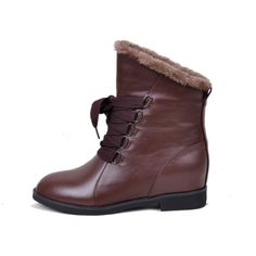 Botine maro din piele cu siret Brown Ankle Boots, Lace Up Ankle Boots, Leather And Lace, Walking, Wedges, My Style, Stage, Shopping, Shoes
