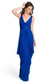 Draped Sapphire Dream Gown by Carlos Miele