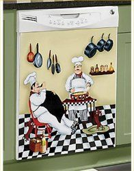 Fat Chef Dishwasher Magnet Bistro  Door Cover