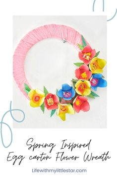 Wreath Crafts, Flower Crafts, Yarn Crafts, Diy Crafts, Painting Activities, Upcycled Crafts, Little Star, How To Make Wreaths, Diy Spring Wreath
