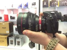 Panasonic GH4 with Metabones EF adapter and Canon 24mm Cinema Lens.