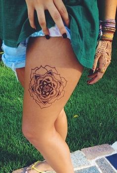 http://tattoo-ideas.us/wp-content/uploads/2014/07/Mandala-Leg-Tat.jpg Mandala Leg Tat #FloralLegTattoo, #LegTattoo, #Mandala, #MandalaTattoo, #TattooIdea