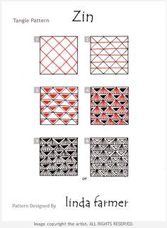 How to draw ZIN by Linda Farmer « TanglePatterns.com