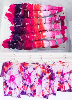 Tie-dye shirt birthday party favors! Plus tips to make the colors more vivid from MichaelsMakers White House Black Shutters